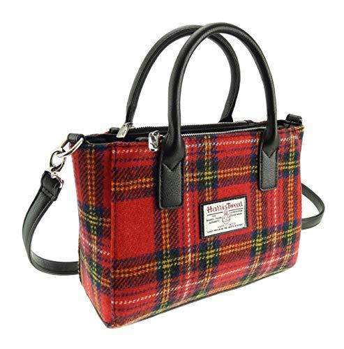Borsa da donna autentica Harris Tweed piccola Brora LB1228, LB1228, Rosso