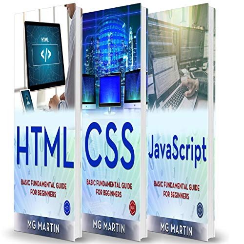 Programming for Beginners: 3 Books in 1 - HTML+CSS+JavaScript audiobook cover art