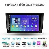 Estéreo Doble DIN Car Auto Android 10.0 Radio para Seat Ibiza 2017~2020 Unidad GPS Jefe de Navegación 9 Receptor Multimedia Digital Pulgadas de Pantalla táctil Reproductor de vídeo carplay DSP RDS