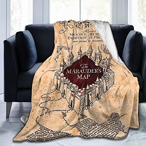 Ai Weier Extra Soft I Like Exercise Marauders Map Throw Blankets, Sherpa Flannel Travel Blanket Throw Wearable Blankets, Large Blanket for Bed Couch Sofa Chair Dorm
