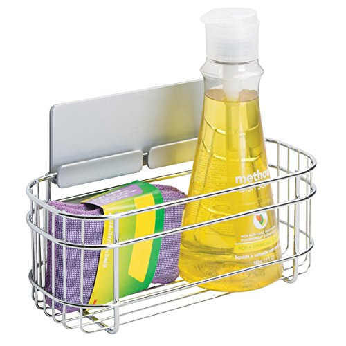 mDesign AFFIXX Aufbewahrungsbox für Spülmittel, Schwamm etc. – selbstklebende Wandaufbewahrung...