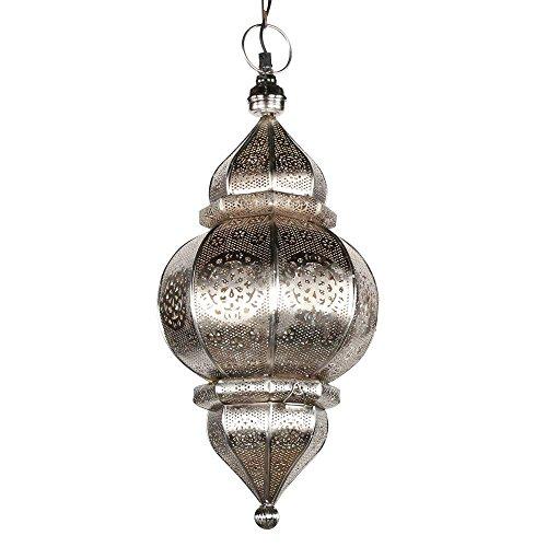 albena shop 71-0195 Kaja lámpara oriental de techo ø 23 x 50 cm metal plateado