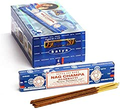 Satya Nag Champa Incense Sticks - 180 Grams - Premium Indian Incense