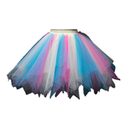 d210acc5db MizHome Womens Rainbow Tutu Skirt Layered Tulle Skirt Adult Halloween  Costumes
