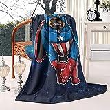 Unicorns Farting Rottweiler Dog Cosplay Hero Summer Thick Reversible Blanket Lightweight Bed Warm Throw Blanket Flannel Fleece Blanket, 50 X 60 Inch