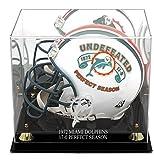 Miami Dolphins Golden Classic 1972 Commemorative Logo Helmet Case with Mirror Back - Football Helmet Logo Display Cases