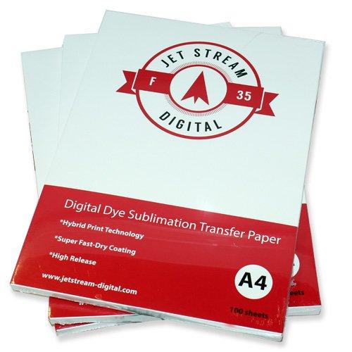 100Tabelle f 35Jet Stream Sublimation Papier 210x/Größe A4