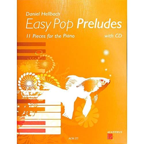 Easy Pop PRELUDES-11Piano morceaux de Daniel clair BACH-PIANO Notes avec CD et coloré Cœur Note Pince