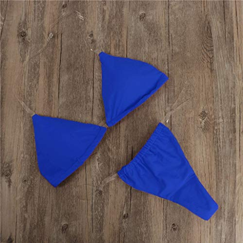 DIPOLA Damen Transparenter Dreipunkt-Bikini-Bikini-Oberteil mit Bikinihose und Bikini-Oberteil Damen Set Push Up