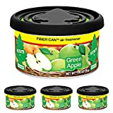 LITTLETREESCar Air Freshener | Fiber Can Provides a Long-Lasting Scent for Auto or Home | Adjustable Lid for Desired Strength | Green Apple, 4-Pack
