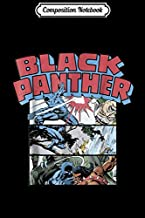 Composition Notebook: Marvel Black Panther Retro Comic Stacked Panel Art Journal/Notebook Blank Lined Ruled 6x9 100 Pages