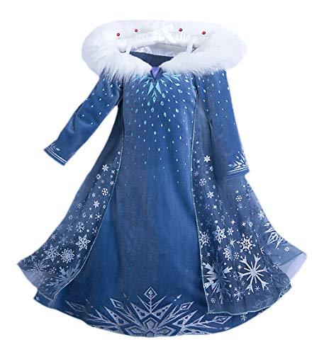 YOSICIL Niñas Vestido de Frozen Elsa Disfraz de Princesa Elsa con Capa...