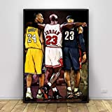 Kobe Bryant Michael Jordan Lebron James Basketball Kunst