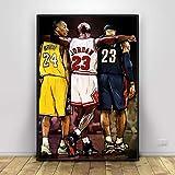 Kobe Bryant Michael Jordan Lebron James Basketball Kunst