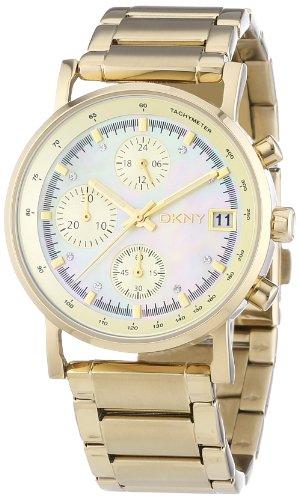 DKNY Chronograph Quartz Gold Tone Dial Women