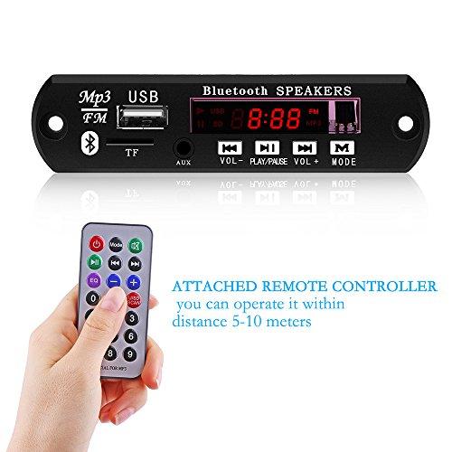TiooDre Radio USB Bluetooth Coche MP3 WMA decodificador Junta Módulo de audio inalámbrico 12V USB TF