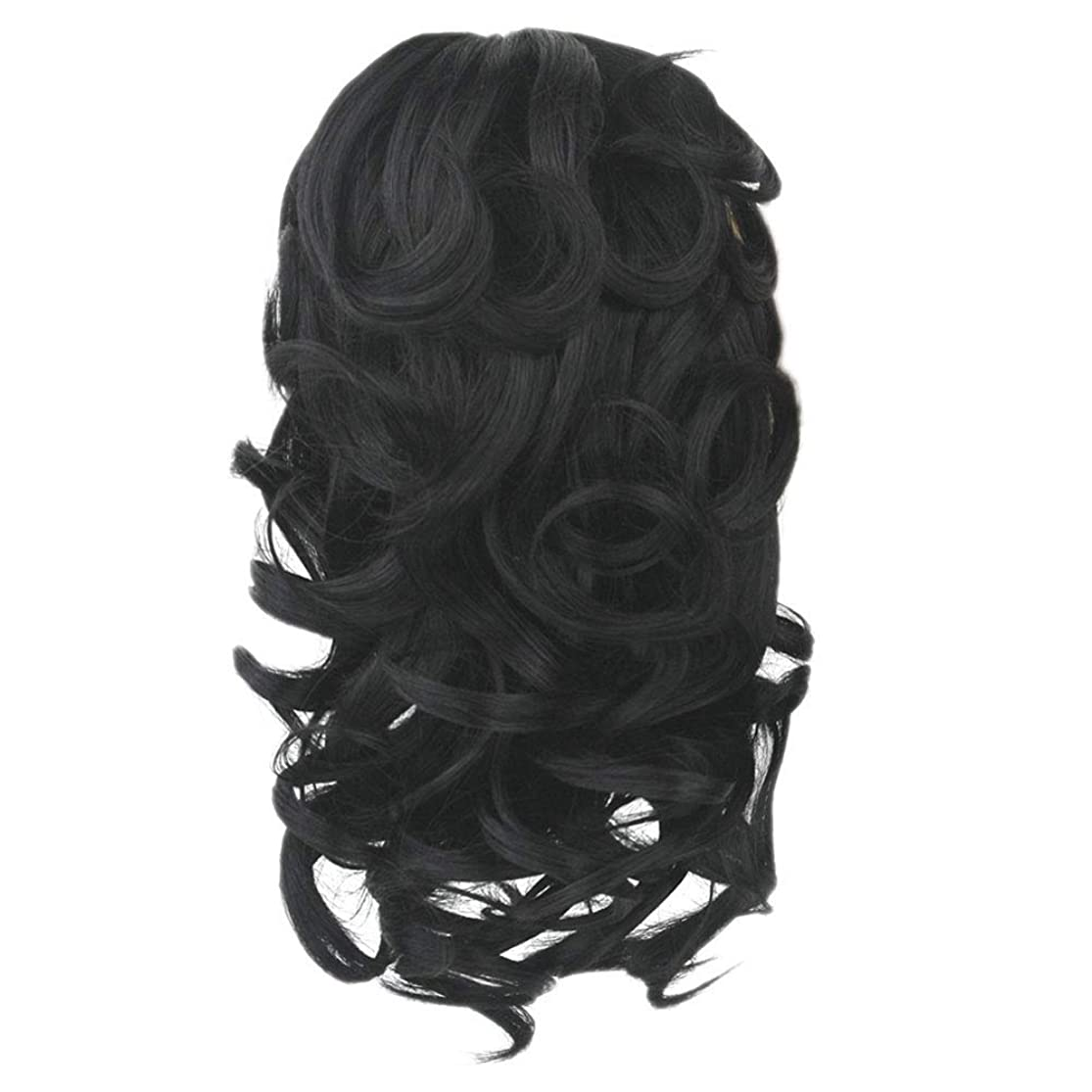 Finerplan Claw Thick Wavy Wig Curly Long Layered Ponytail Wig Clip On Hair Extension uacackga3