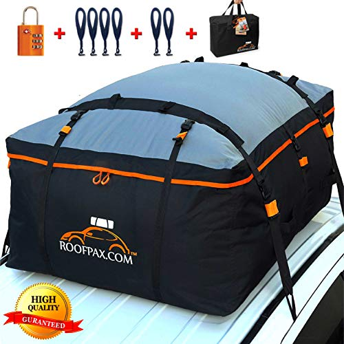 RoofPax Car Roof Bag & Rooftop Cargo Carrier. 19 Cubic Feet. 100% Waterproof Excellent Military...