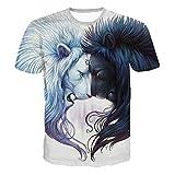Tops Blouse Homme T-Shirt, ITISME Taille Plus Tops Pull Réaliste Imprimé 3D T-Shirt Manches Courtes Tee Blouse Hommer Boxer