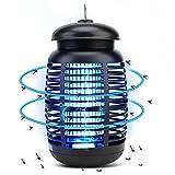 CASAMAA Lampada Antizanzare Elettrica, 15W Zanzariera Elettrica con 4800V Alta Tensione, UV Lampada Zanzare Impermeabile per Casa Giardino Interno ed Esterno