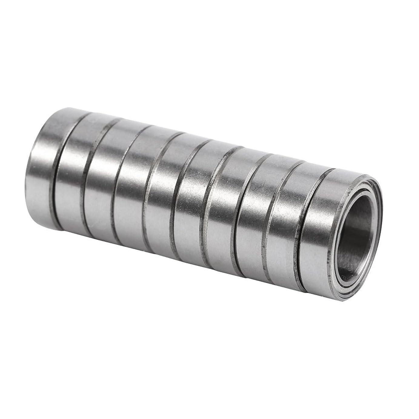ネクタイシリング多用途10個 ボールベアリング ベアリング 6700ZZ 二重シールド 薄切片薄壁玉軸受10 * 15 * 4mm