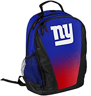 FOCO NFL New York Giants Logo Gradient Print Primetime Deluxe Backpack, Team Color, Standard, One Size