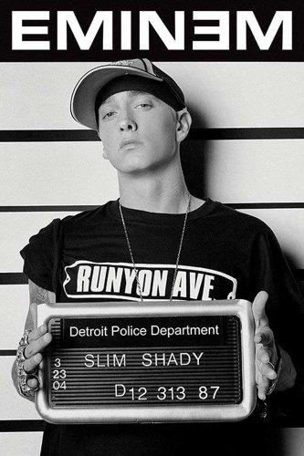 Eminem - Mugshot - Musikposter Foto Rap Hiphop - Grösse 61x91,5 cm