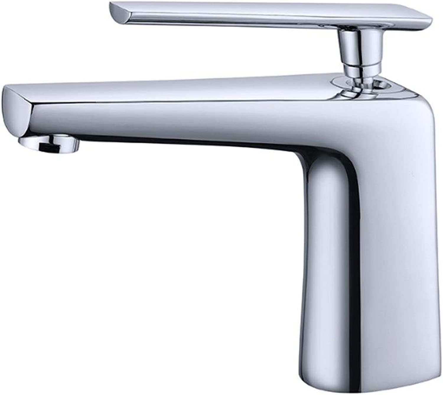 TSAR003 High And Low Type Of Copper Modern Minimalist Bathroom Basin Hot And Cold Mixed Water Faucet , Low