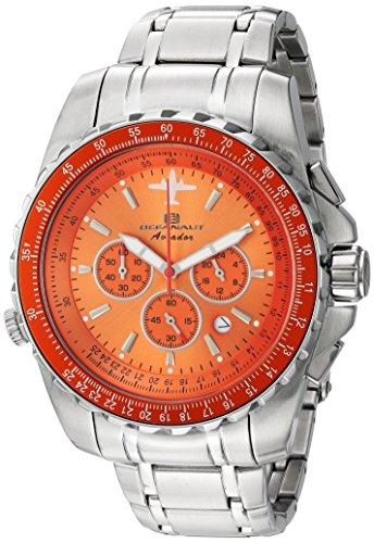Oceanaut Men's Aviador Pilot Quartz Watch with Stainless-Steel Strap, Silver, 22 (Model: OC0115)