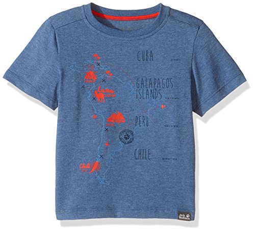 Jack Wolfskin Kids Journey T-Shirt, Unisex, 1606581, Ocean Wave, Size 140 (9-10 Years Old) US