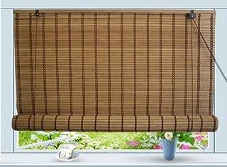 Bamboo Roll Up Window Blind Sun Shade W30
