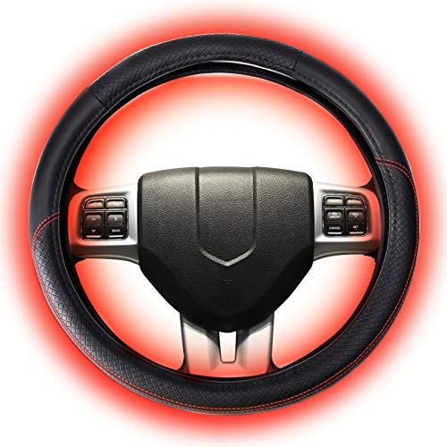 """Heated Steering Wheel Cover,Universal15"""" 12V – DC Quick..."""