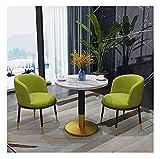 Juego de mesa de comedor para comedor y cocina, juego de mesa y silla de 2 muebles nórdicos modernos y minimalistas para sala de estar, combinación de mesa redonda y silla, muebles de cocina Color: ve