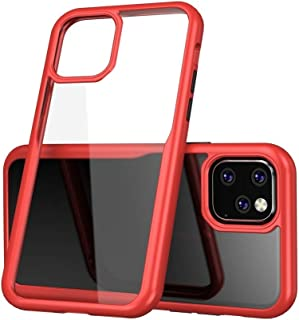 For iPhone 11 Pro Shockproof Acrylic Full Coverage Protective Case New(Black) Hengk (Color : Red)