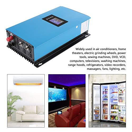 Inversor de energía Solar, Forma de Onda de adaptabilidad de Carga con inversor de conexión de Red limitador, para teatros en casa, muelas eléctricas(1000W 22-60VDC, Without WiFi, Pink)