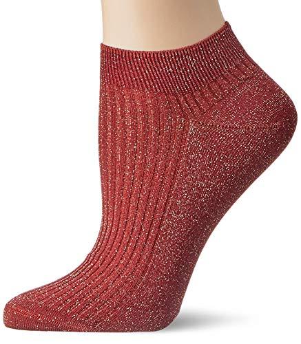 FALKE Damen Sneakersocken Shiny Rib - Baumwollmischung, 1 Paar, Rot (Burgundy 8011), Größe: 39-42