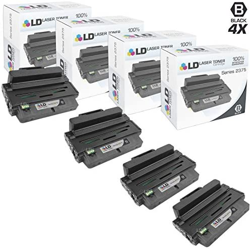 LD Compatible Replacement for Dell B2375 593-BBBJ (Black, 4-Pack)
