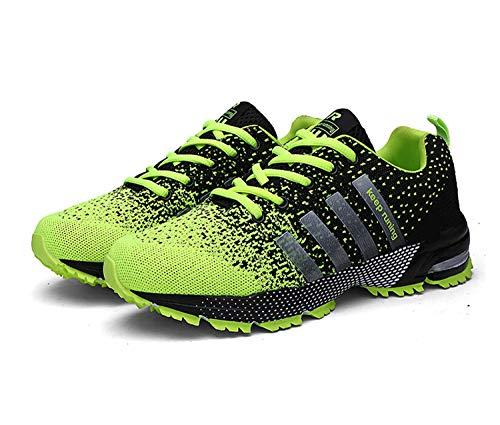 Goalsse Uomo Donna Scarpe da Ginnastica Sportive Running Fitness Sneakers Traspiranti Outdoor Respirabile Mesh Casual Sneakers (43 EU,Verde)