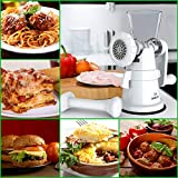 Gideon Hand Crank Manual Meat Grinder Heavy Duty Stainless Steel Blades with Powerful Suction Base Effortlessly Grind Meat, Vegetables, Garlic, Fruits, etc.