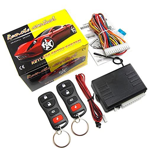 WEFH Coche Auto Alarm Control Remoto Kit Central Cerradura de Puerta Sistema de Bloqueo sin Llave, Negro