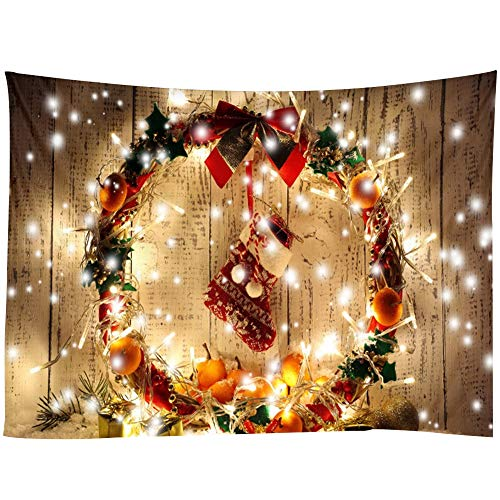 Jwkcm Christmas Tapestry, Home Wall Hanging Christmas Wall Decoration, Multi-Size Optional,D