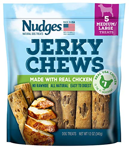 Nudges Chicken Jerky Chews for Medium/Large Dogs, 12 Ounce