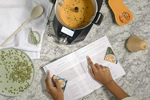 IKOHS CHEFBOT Compact STEAMPRO - Robot de Cocina Multifunción, Cocina al Vapor, 23 Funciones, 10 Velocidades con Turbo, Bol Acero Inoxidable 2,3 L, Libre BPA (con Vaporera y Recetario - Negro)