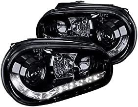 Spec-D Tuning LHP-GLF99G-8-TM Volkswagon Golf Hatchback R8 Style Led Projector Headlights Smoked