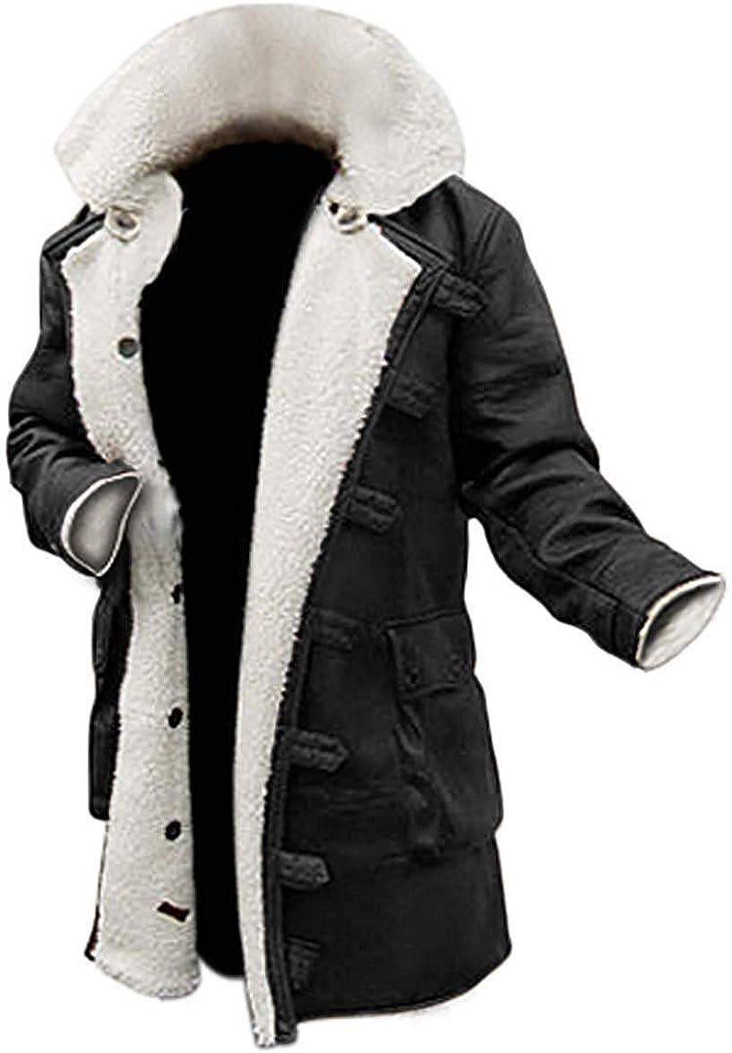 Blingsoul Real Lambskin Swedish Bomber Coat - Sherpa Lined Leather Jacket Fur Coats