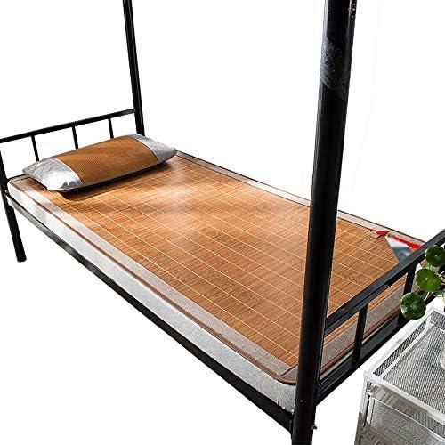 Chencheng Natte de bambou carbonisé, un seul côté foyer d'étudiants recto-verso sièges climatisés pliable (2 dimensions) Convient pour l'été chaud (Size : 1.2x1.95m)