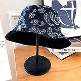 wtnhz Artículo de Moda - Sombrero-Flor de anacardo Coreano de Doble Cara con Sombrero de Pescador Mujer Verano Moda Masculina Calle Salvaje Olla Sombrero Protector Solar Sombrero para el Sol