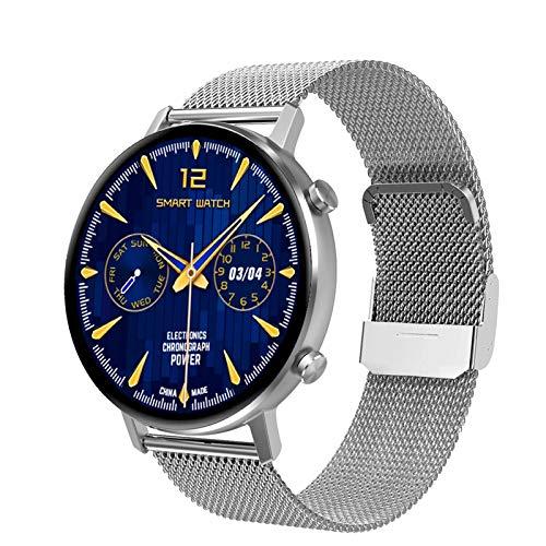 YWS 2021DT96 Smart Watch Monitoreo De Ritmo Cardíaco para Hombres Y Mujeres 360 * 360 Pantalla Táctil Completa Rastreador De Fitness Impermeable (para Android iOS),A