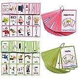 Richardy Verbs/Adjectives Flash Cards Learning English Baby Montessori Toys Child Flashcards Preschool Kindergarten Kids Gifts