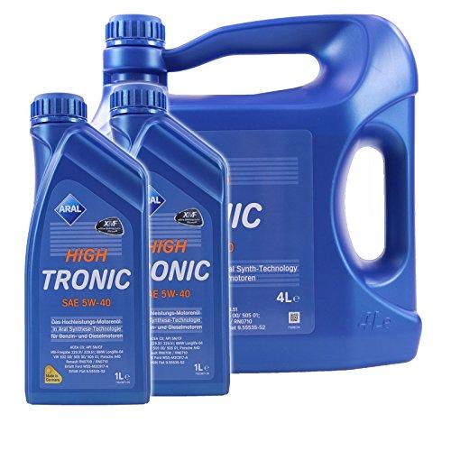 2x 1 L + 4 L = 6 Liter ARAL HighTronic 5W-40 Motoröl